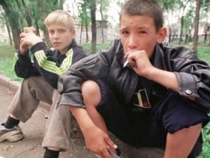 Подростки и сигарета